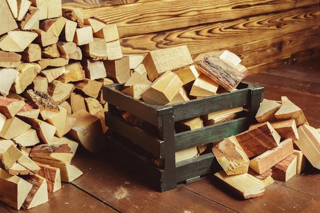 Mucchio di legna da ardere Foto Premium