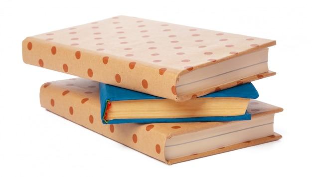 Mucchio di libri isolato Foto Premium