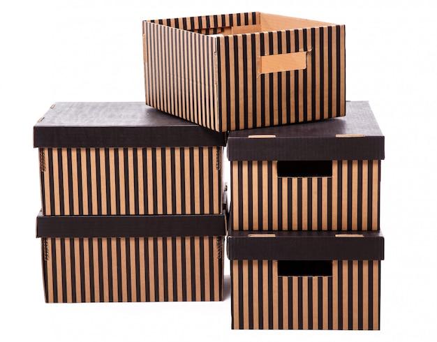Mucchio di scatole a strisce Foto Gratuite