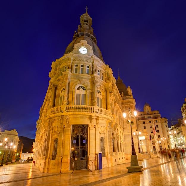 Municipio di ayuntamiento de cartagena murcia spagna Foto Premium
