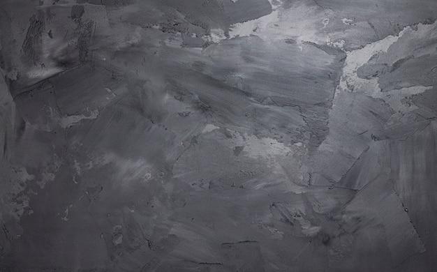 Muro di cemento grigio con stucco texture, spazio concreto Foto Premium