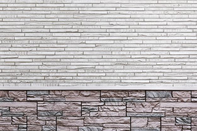 Muro di fondo di una casa moderna, decorato con piastrelle Foto Premium
