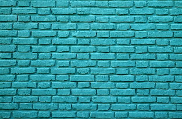 Muro di mattoni colorato turchese a la boca a buenos aires dell'argentina per fondo, struttura o modello Foto Premium