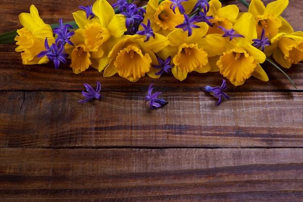 Narciso giallo o giunchiglia Foto Premium