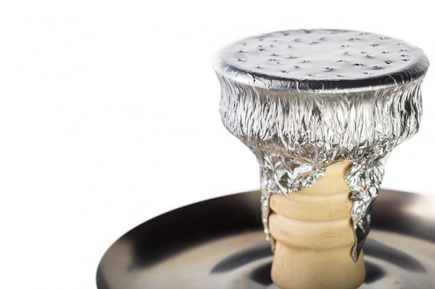 Narghilé isolato su bianco Foto Premium