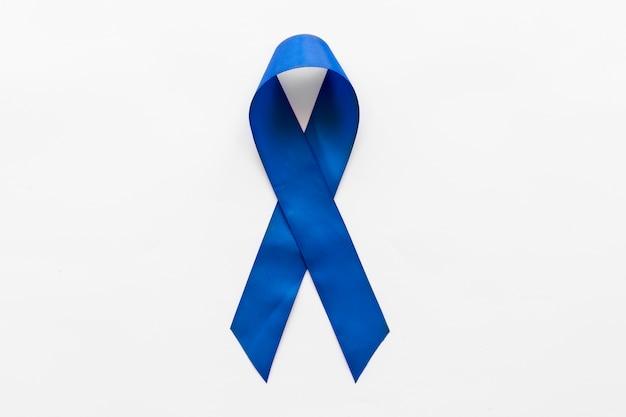 Nastro Di Consapevolezza Blu Scuro Su Sfondo Bianco Scaricare Foto