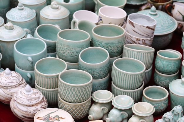 Negozio di pentole in ceramica Foto Premium
