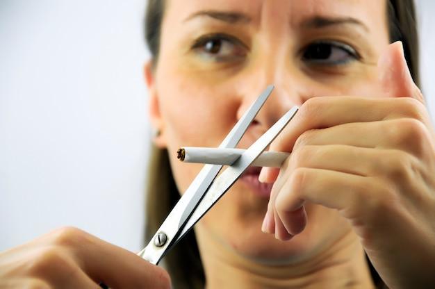 Niente più sigarette! Foto Premium