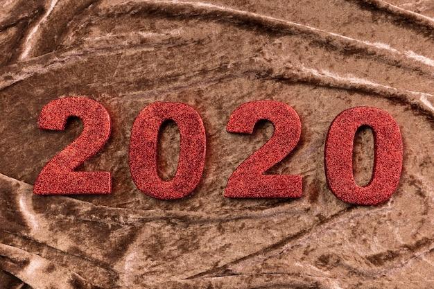Numero cinese di nuovo anno su velluto Foto Gratuite