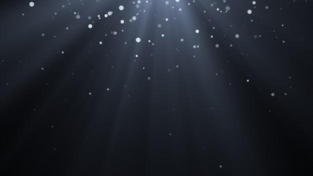 Nuovo anno 2020. sfondo bokeh. luci astratte. sfondo di buon natale. luce glitterata particelle sfocate fiocchi di neve Foto Premium
