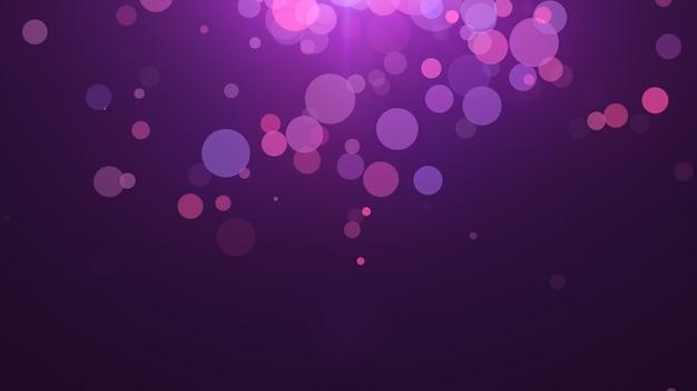 Nuovo anno 2020. sfondo bokeh. luci astratte. sfondo di buon natale. luce glitterata particelle sfocati. colori viola e rosa Foto Premium