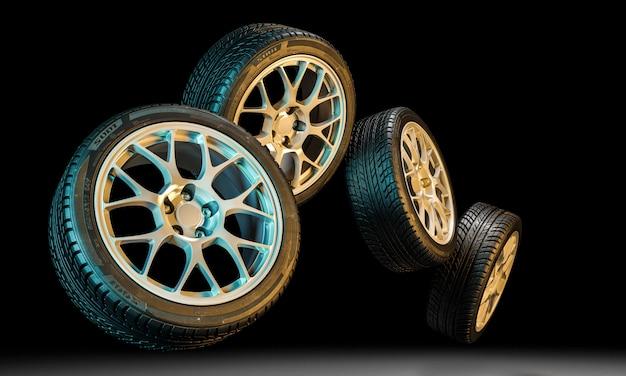 Nuovo pneumatico per auto Foto Premium