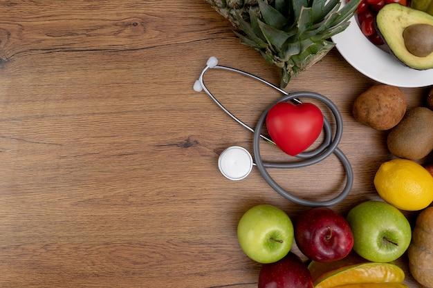 Nutrizione sana di dieta di programma di dieta sana sana Foto Premium