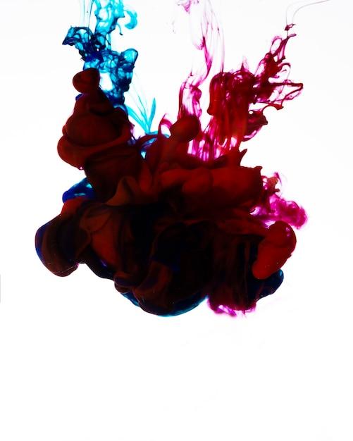Nuvola di inchiostro che scorre colorato Foto Gratuite