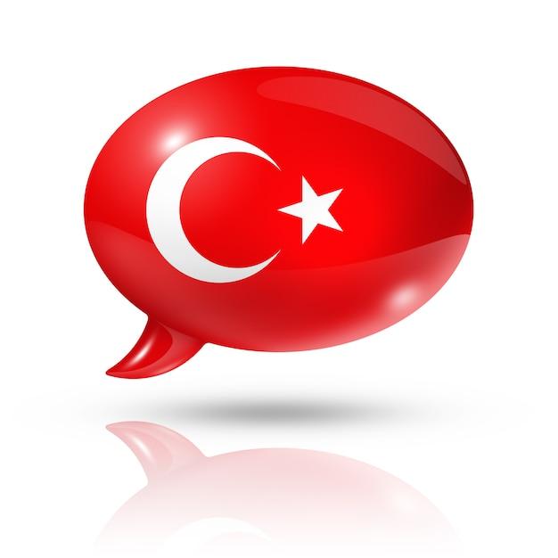Nuvoletta bandiera turca Foto Premium