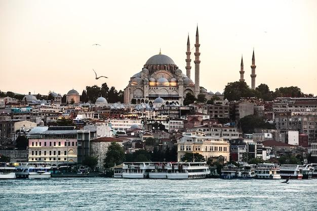 Oceano di istanbul con nave da crociera Foto Gratuite