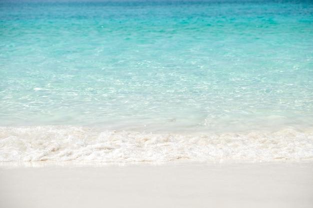 Onda Del Mare Blu Sulla Spiaggia Di Sabbia Vacanze Estive Relax