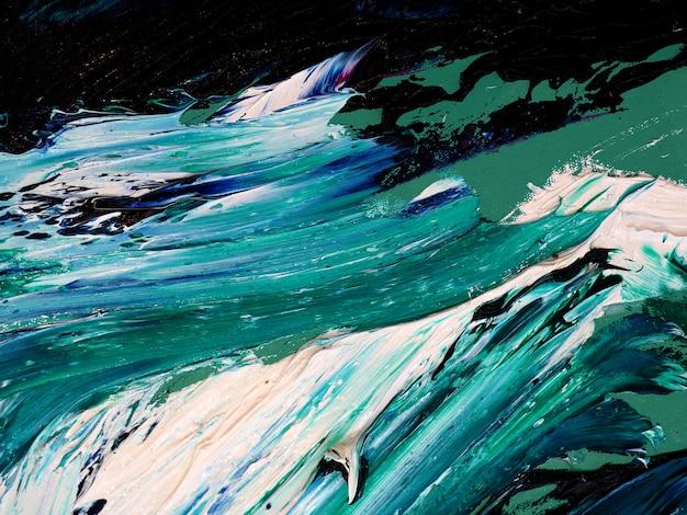 Onde di oceano. movimento che dipinge struttura variopinta. colori luminosi del fondo astratto artistico spruzza. Foto Premium