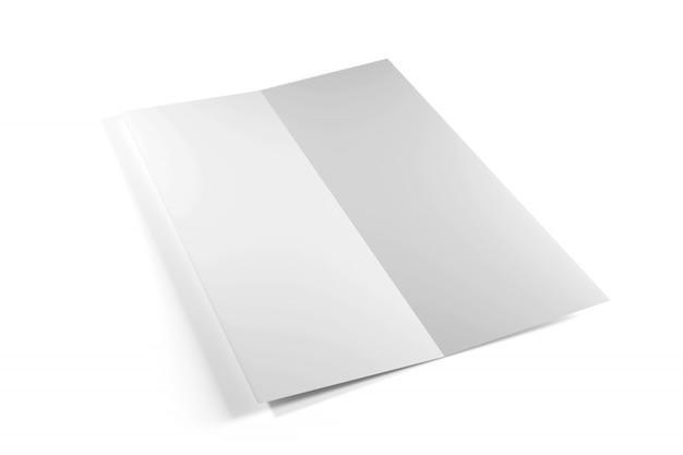 Opuscolo su uno sfondo bianco, rendering 3d Foto Premium