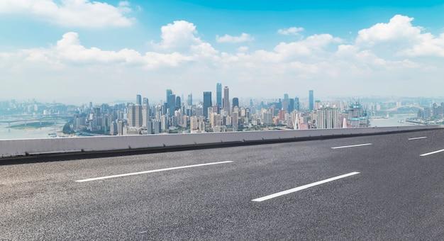 Orizzonte in avanti avvolgimento percorso blu percorso speedway Foto Gratuite