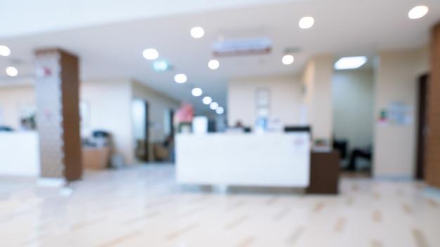Ospedale corridoio sfocato Foto Premium