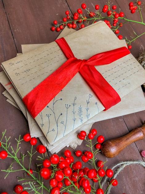 Pacchetto per capodanno o natale. Foto Premium