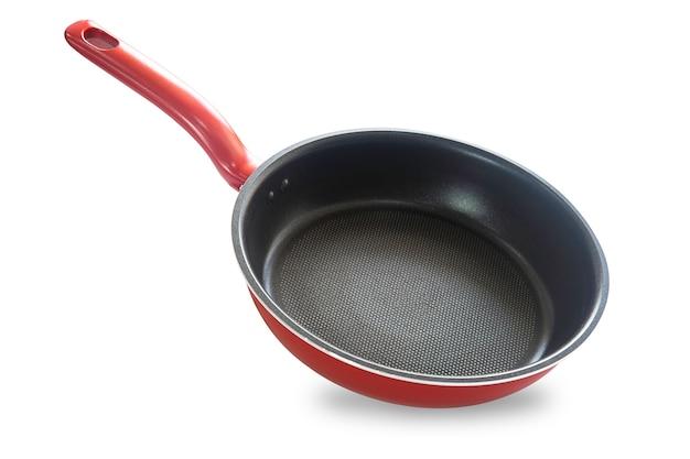 Padella nel colore rosso isolata Foto Premium