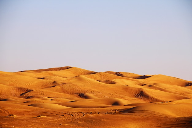 Paesaggio del deserto di dubai Foto Premium