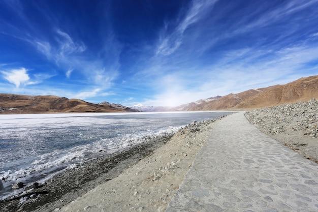 Paesaggio della spiaggia con un percorso Foto Gratuite