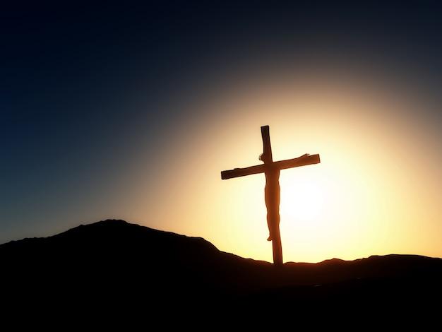 Paesaggio tramonto del venerdì santo Foto Gratuite