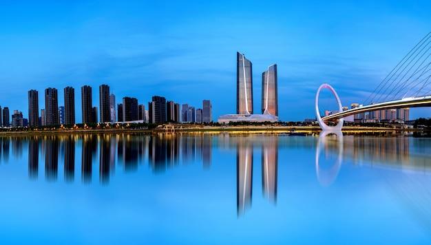 Paesaggio urbano di nanjing, cina Foto Premium