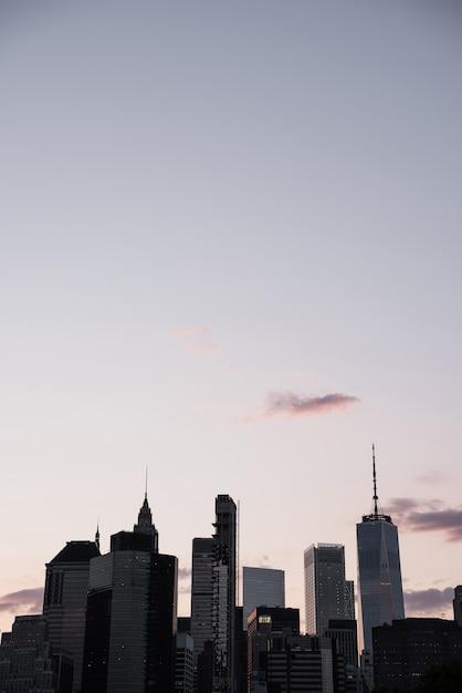 Paesaggio urbano di new york con copia-spazio Foto Gratuite