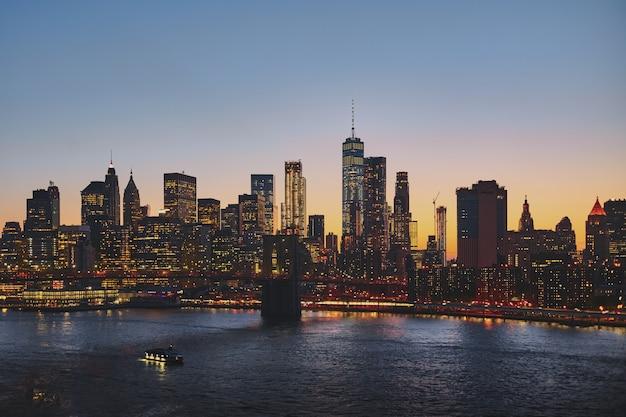 Paesaggio urbano di new york Foto Gratuite