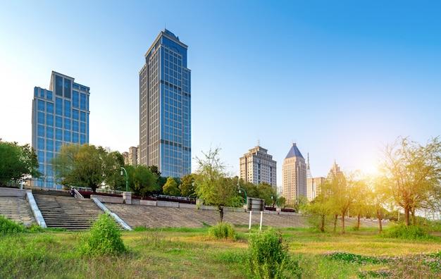 Paesaggio urbano moderno Foto Premium