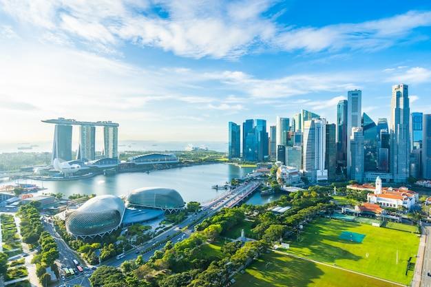 Paesaggio urbano nell'orizzonte della città di singapore Foto Gratuite