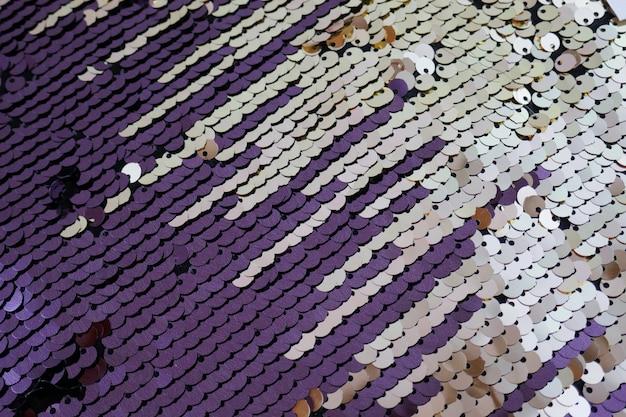 Paillettes pattern.purple argento paillettes sfondo. luccicante. seamless paillettes trama Foto Premium