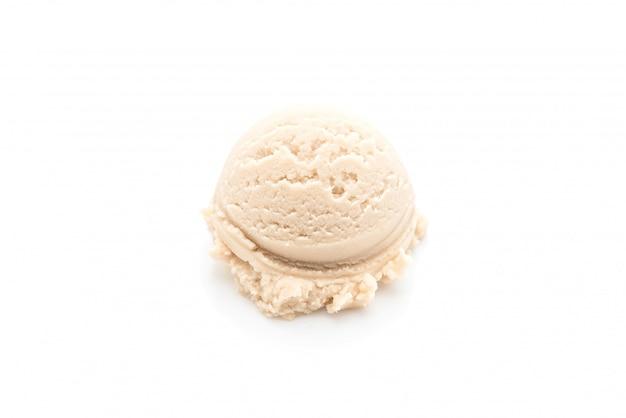 Pallina di gelato alla vaniglia Foto Premium