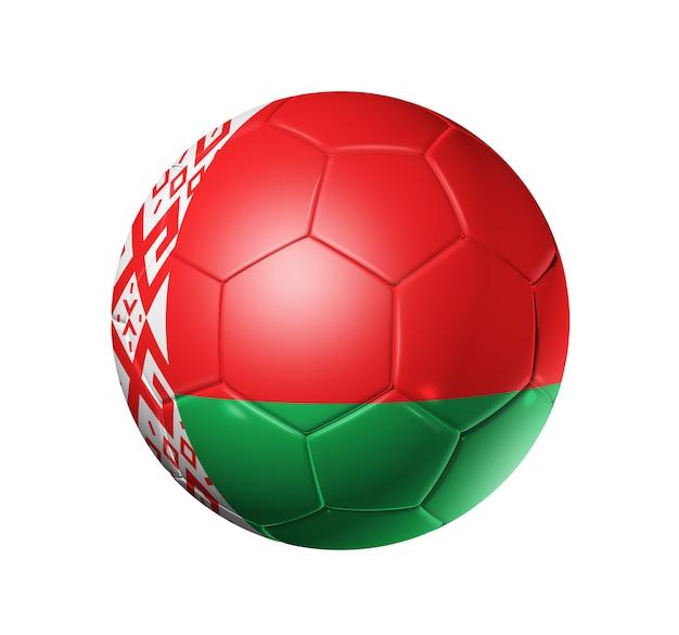 Pallone da calcio calcio con bandiera della bielorussia Foto Premium