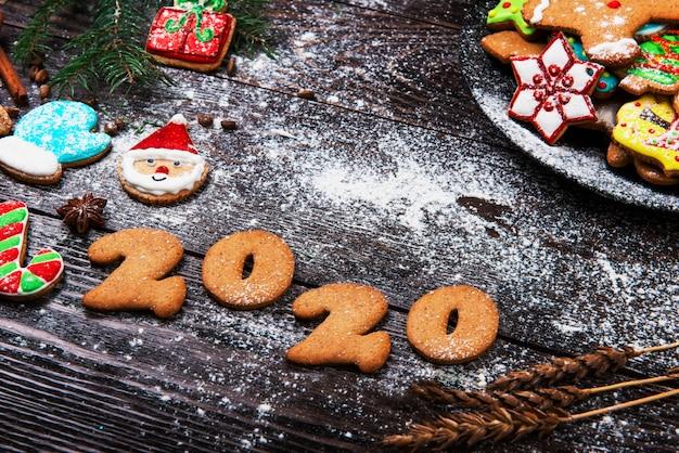 Pan di zenzero per il nuovo anno 2020 Foto Premium