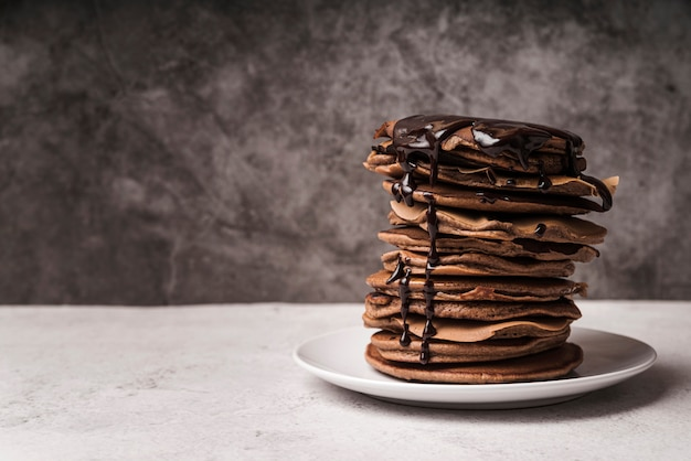 Pancake close-up con topping Foto Gratuite