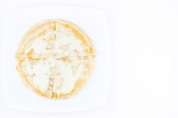 Pancakes intrisi di latte condensato Foto Premium