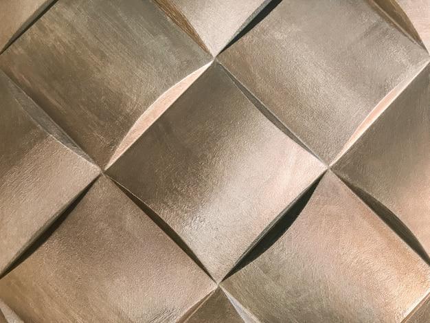 Pannello murale decorativo 3d bronzo con insolita forma geometrica, Foto Premium