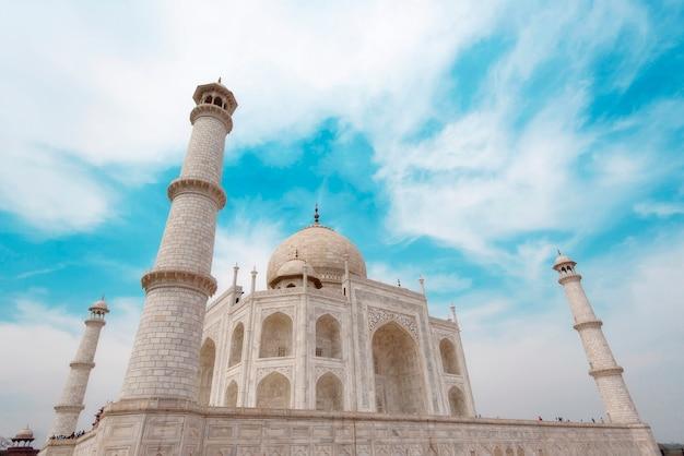 Parte della taj mahal mosque di agra in india Foto Premium