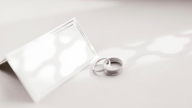 Partecipazione di nozze con anello di sarchiatura Foto Gratuite