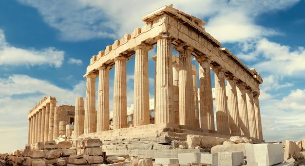 Partenone sull'acropoli di atene, in grecia Foto Premium