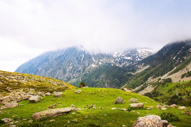 Passaggio di montagna in giornata nuvolosa. port de la bonaigua Foto Gratuite