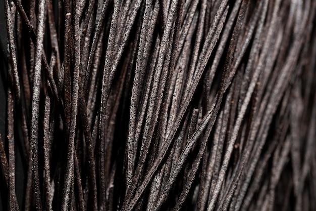 Pasta di nero di seppia estrema del primo piano tutta nel nero Foto Gratuite