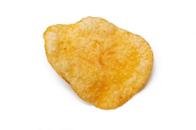 Patatine fritte isolate su fondo bianco Foto Premium
