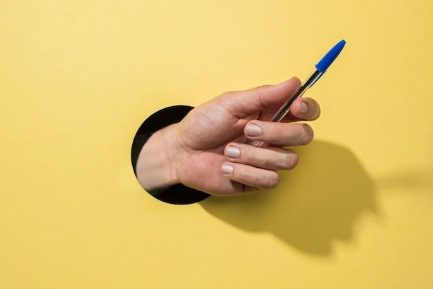 Penna frontale vista da persona Foto Gratuite