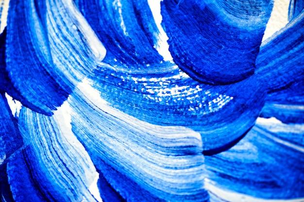 Pennellate astratte con acquerello blu Foto Premium